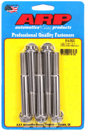 ARP 7/16-14 X 3.500 12pt 1/2 wrenching SS bolts 6143500