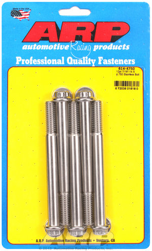 ARP 7/16-14 X 4.750 12pt 1/2 wrenching SS bolts 6144750
