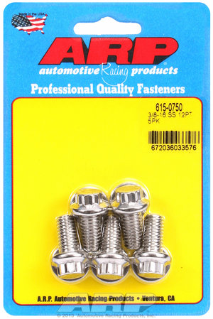 ARP 3/8-16 x 0.750 12pt 7/16 wrenching SS bolts 6150750