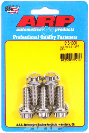 ARP 3/8-16 x 1.000 12pt 7/16 wrenching SS bolts 6151000