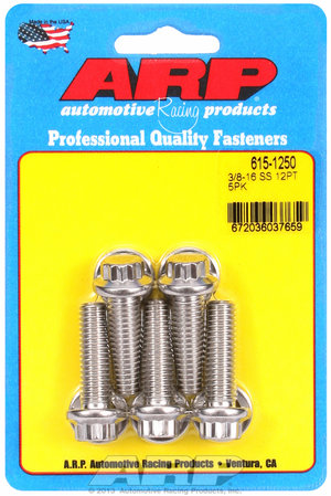 ARP 3/8-16 x 1.250 12pt 7/16 wrenching SS bolts 6151250