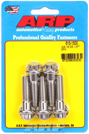 ARP 3/8-16 x 1.500 12pt 7/16 wrenching SS bolts 6151500