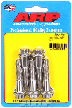 ARP 3/8-16 x 1.750 12pt 7/16 wrenching SS bolts 6151750