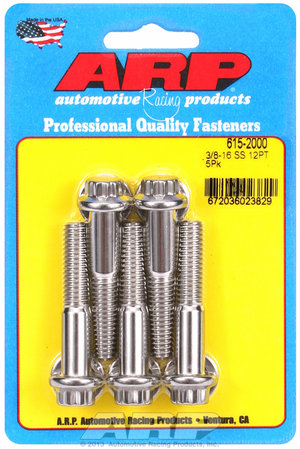 ARP 3/8-16 x 2.000 12pt 7/16 wrenching SS bolts 6152000
