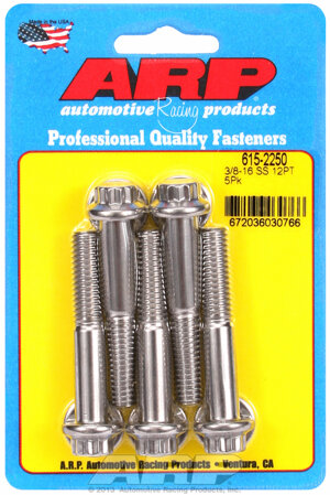 ARP 3/8-16 x 2.250 12pt 7/16 wrenching SS bolts 6152250