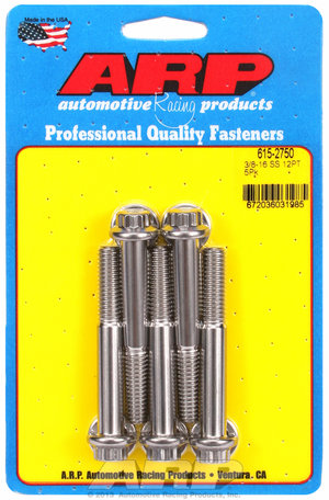 ARP 3/8-16 x 2.750 12pt 7/16 wrenching SS bolts 6152750