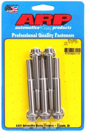 ARP 3/8-16 x 3.000 12pt 7/16 wrenching SS bolts 6153000