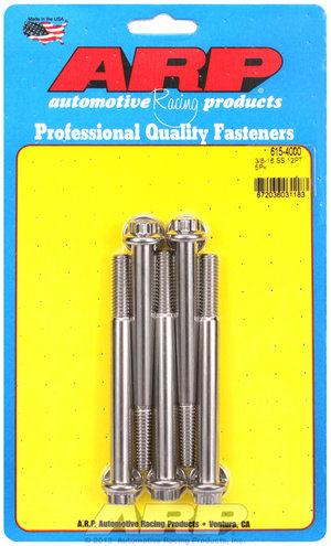 ARP 3/8-16 x 4.000 12pt 7/16 wrenching SS bolts 6154000