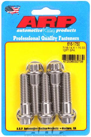 ARP 7/16-14 X 1.750 12pt SS bolts 6161750