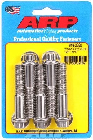 ARP 7/16-14 X 2.250 12pt SS bolts 6162250