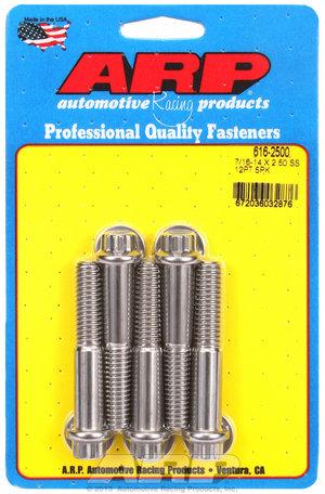 ARP 7/16-14 X 2.500 12pt SS bolts 6162500