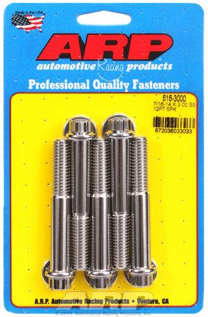 ARP 7/16-14 X 3.000 12pt SS bolts 6163000