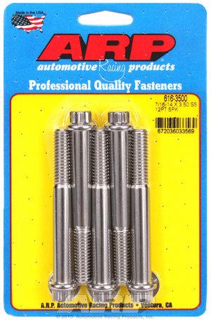 ARP 7/16-14 X 3.500 12pt SS bolts 6163500