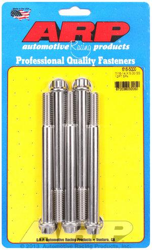 ARP 7/16-14 X 5.000 12pt SS bolts 6165000