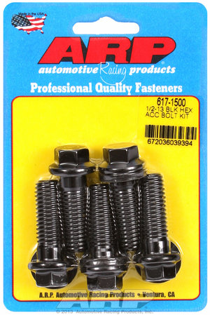 ARP 1/2-13 x 1.500 hex black oxide bolts 6171500