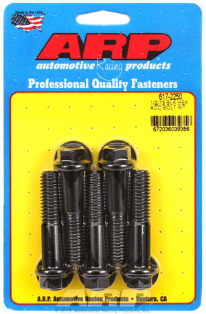 ARP 1/2-13 x 2.250 hex black oxide bolts 6172250