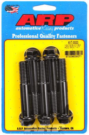 ARP 1/2-13 x 3.000 hex black oxide bolts 6173000