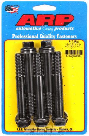 ARP 1/2-13 x 3.500 hex black oxide bolts 6173500