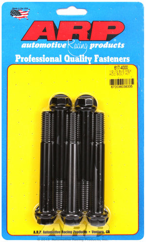 ARP 1/2-13 x 4.000 hex black oxide bolts 6174000