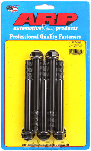 ARP 1/2-13 x 4.500 hex black oxide bolts 6174500