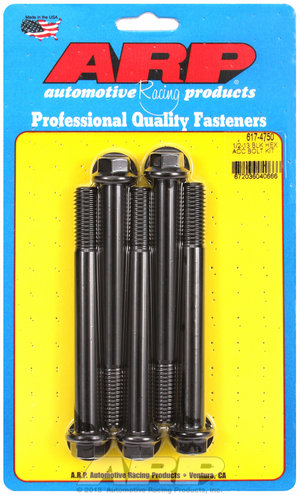 ARP 1/2-13 x 4.750 hex black oxide bolts 6174750