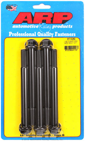 ARP 1/2-13 x 5.250 hex black oxide bolts 6175250