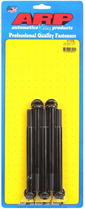 ARP 1/2-13 x 5.750 hex black oxide bolts 6175750