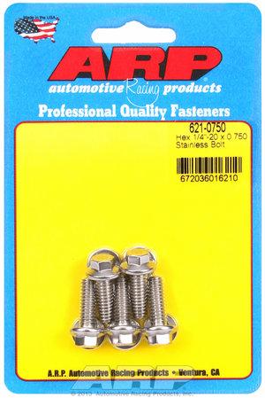 ARP 1/4-20 x 0.750 hex SS bolts 6210750