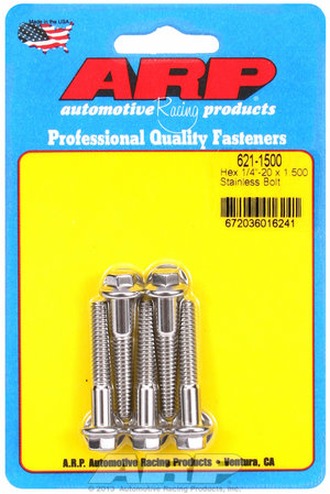 ARP 1/4-20 x 1.500 hex SS bolts 6211500