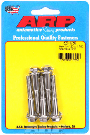 ARP 1/4-20 x 1.750 hex SS bolts 6211750