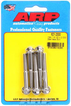 ARP 1/4-20 x 2.000 hex SS bolts 6212000