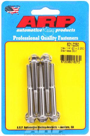 ARP 1/4-20 x 2.250 hex SS bolts 6212250