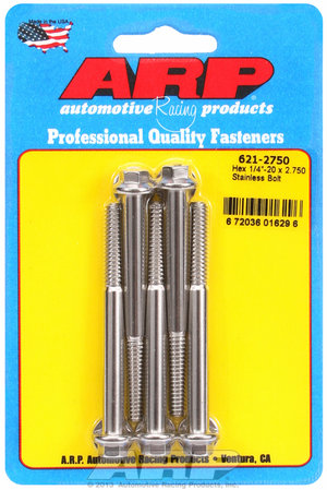 ARP 1/4-20 x 2.750 hex SS bolts 6212750