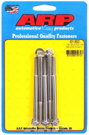ARP 1/4-20 x 3.500 hex SS bolts 6213500