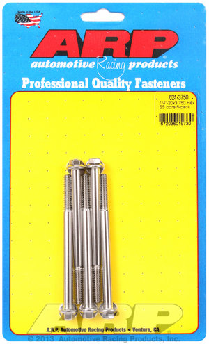 ARP 1/4-20 x 3.750 hex SS bolts 6213750