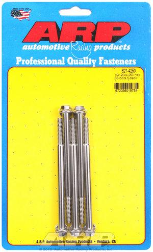 ARP 1/4-20 x 4.250 hex SS bolts 6214250