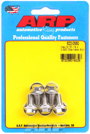 ARP 5/16-18 x 0.560 hex SS bolts 6220560