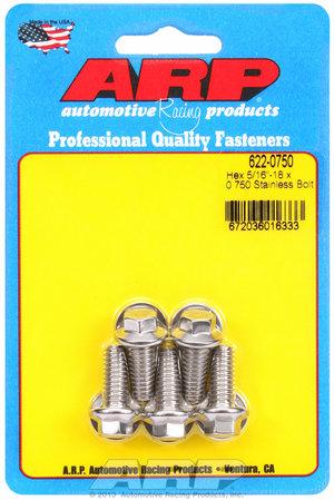 ARP 5/16-18 x 0.750 hex SS bolts 6220750