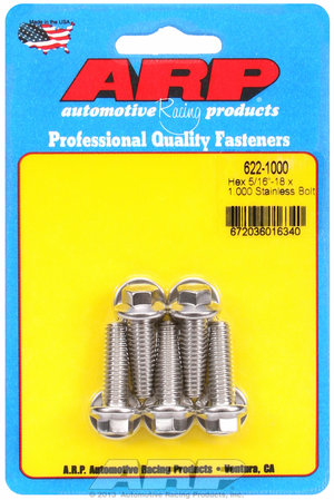 ARP 5/16-18 x 1.000 hex SS bolts 6221000