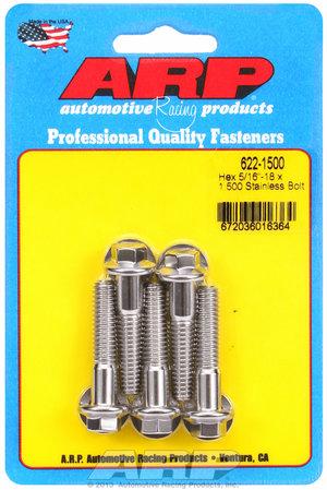 ARP 5/16-18 x 1.500 hex SS bolts 6221500