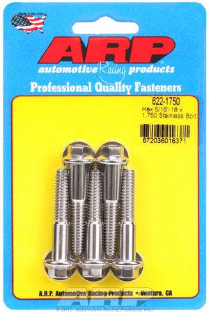 ARP 5/16-18 x 1.750 hex SS bolts 6221750