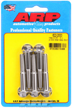 ARP 5/16-18 x 2.000 hex SS bolts 6222000