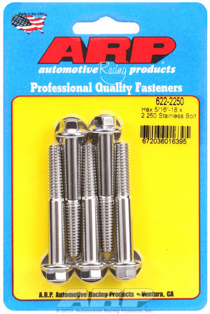 ARP 5/16-18 x 2.250 hex SS bolts 6222250