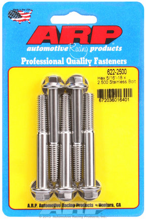ARP 5/16-18 x 2.500 hex SS bolts 6222500