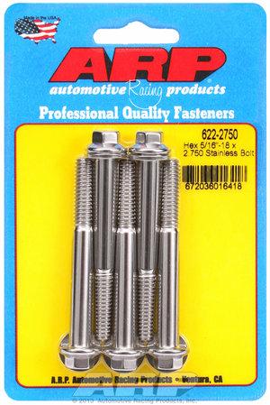ARP 5/16-18 x 2.750 hex SS bolts 6222750