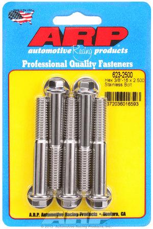 ARP 3/8-16 x 2.500 hex SS bolts 6232500