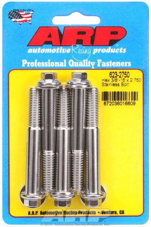 ARP 3/8-16 x 2.750 hex SS bolts 6232750