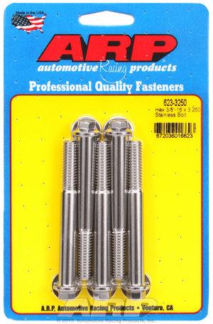 ARP 3/8-16 x 3.250 hex SS bolts 6233250