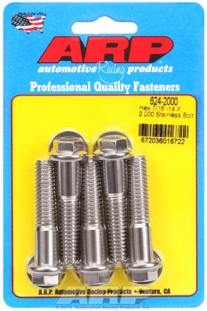 ARP 7/16-14 X 2.000 hex 1/2 wrenching SS bolts 6242000