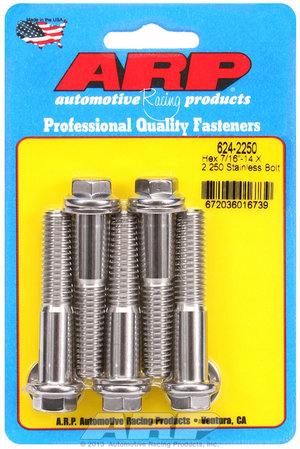 ARP 7/16-14 X 2.250 hex 1/2 wrenching SS bolts 6242250